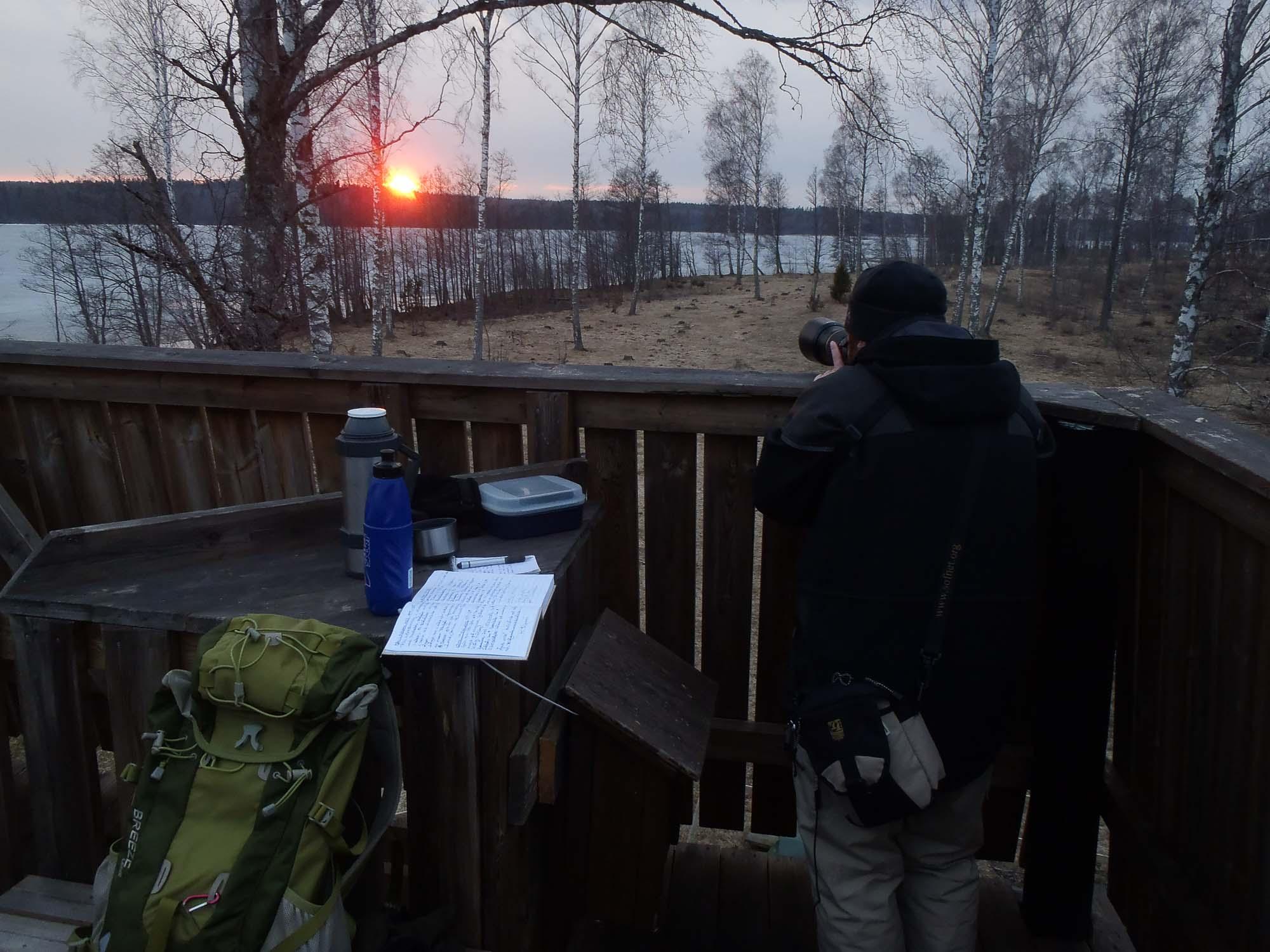 Solnedgång vid Järnuddatornet